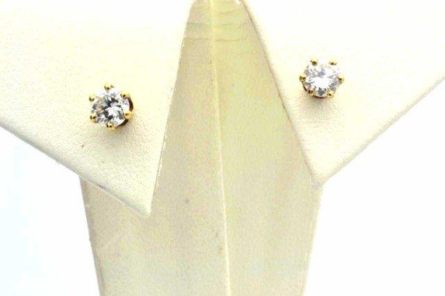 13: 14kyg diamond stud earrings .50ctw
