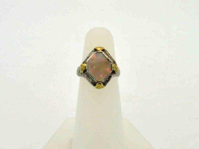 18: Vintage 14kwg opal ring