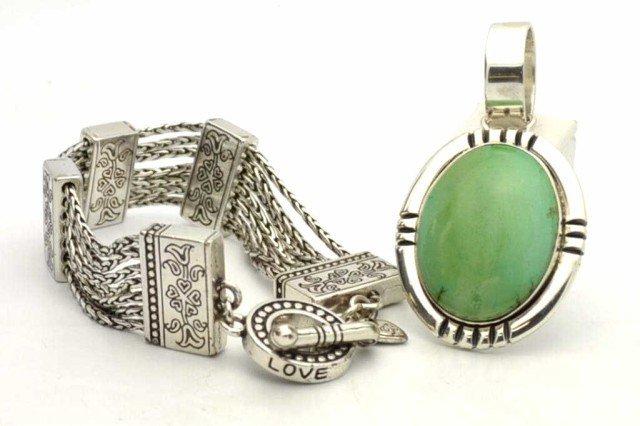 274: Sterling Brighton bracelet & pendant