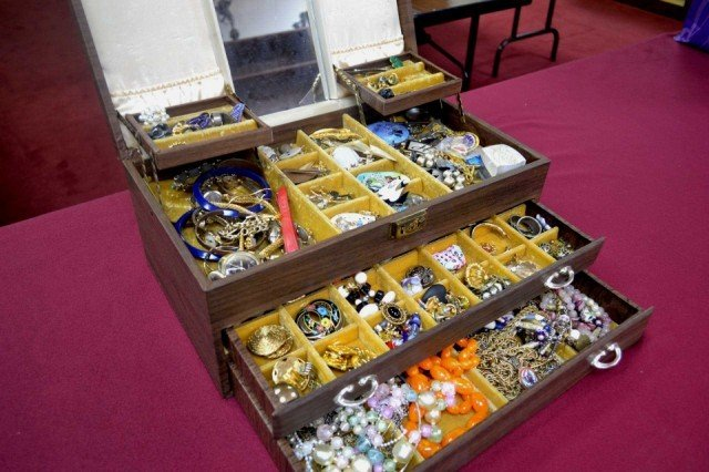 1: Jewlery box full of costume jewelry