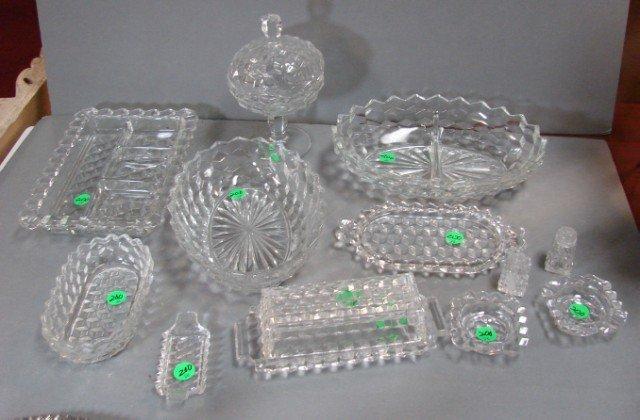 200: 14 Pcs. Fostoria Americana Depression Glass