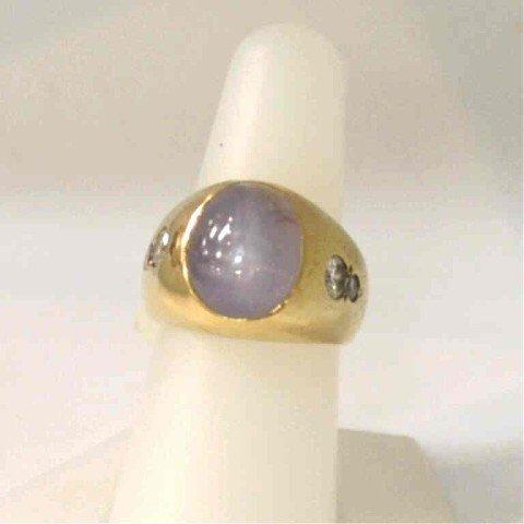 272: Man's 14kyg star sapphire ring