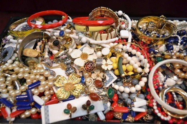 3: Lot of costume jewelry, Scarab