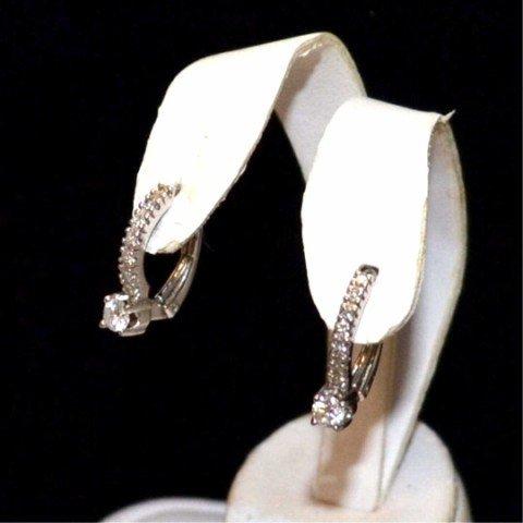 10: 14kyg diamond hoop earrings .40ctw