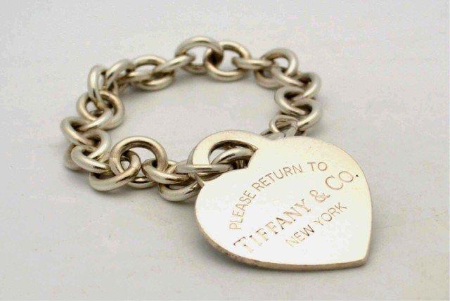 13: Sterling heart bracelet by Tiffany & Co