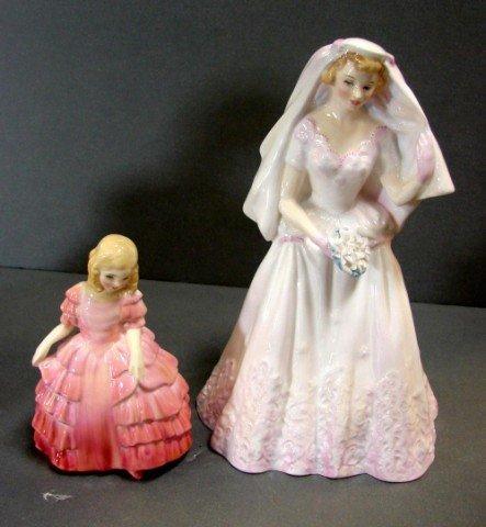 15: Royal Doulton Bride & Rose Figurines