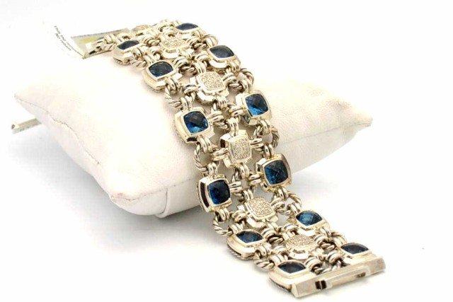58: David Yurman topaz/diamond bracelet