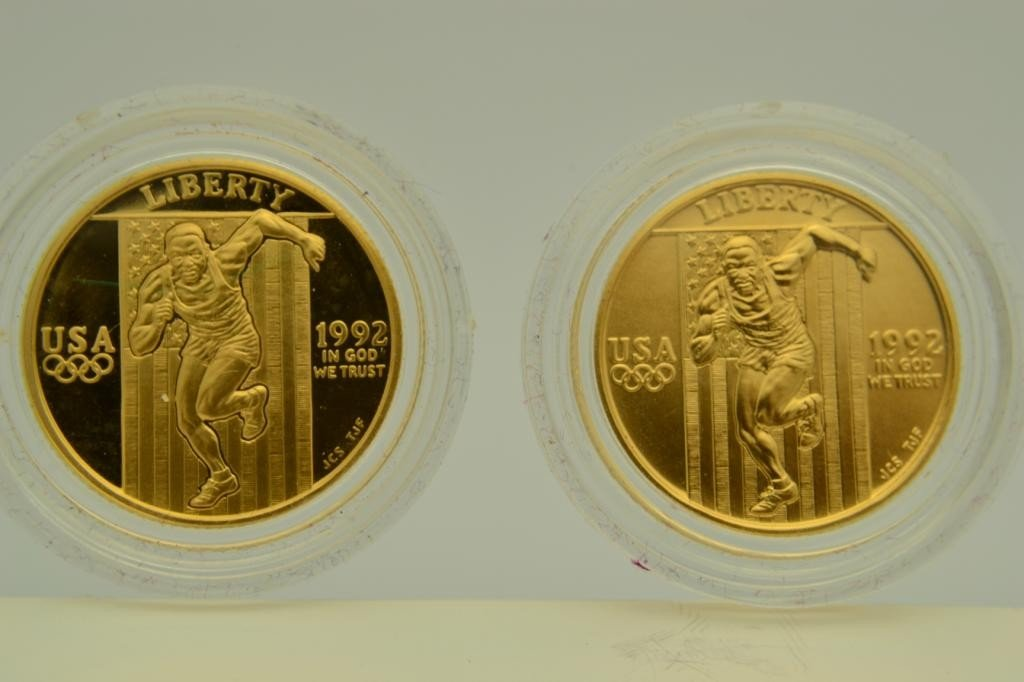 8J: 1992 U.S. Olympic $5 Gold& $1 Silver 6 Coin Set