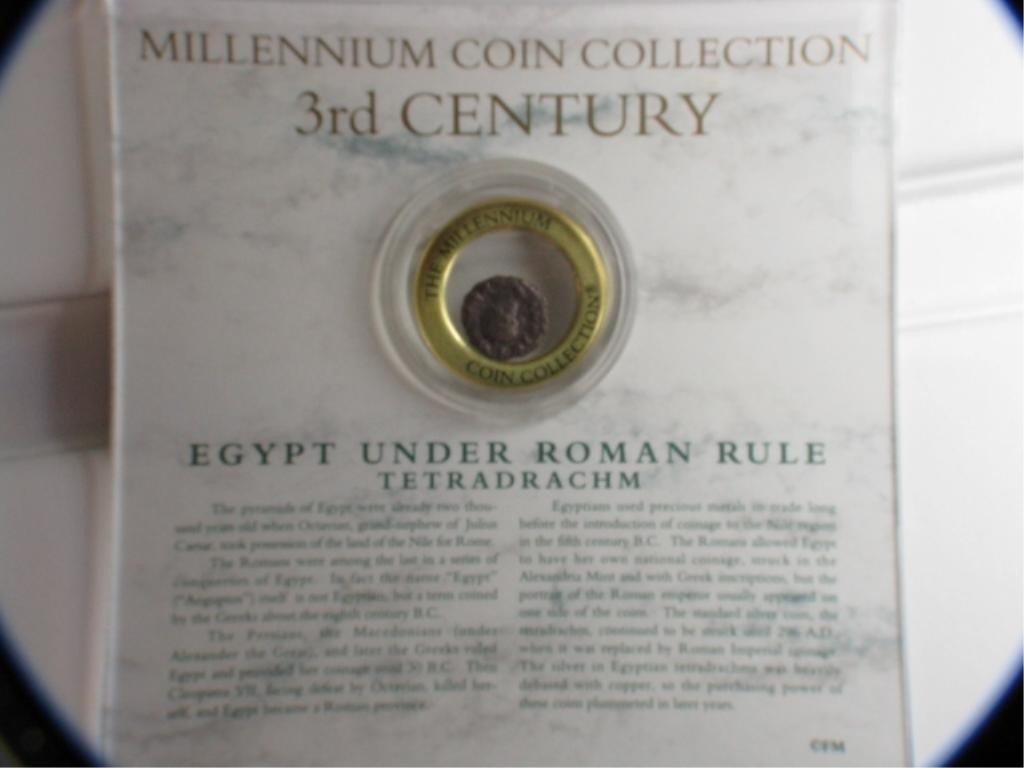 10H: 3rd Century Egypt Tetradrachm Millenium Coin Coll.