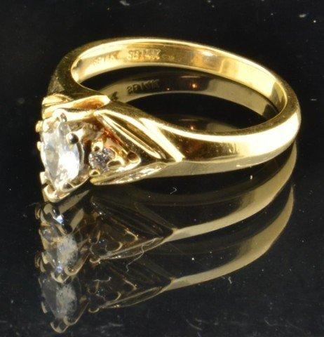 10: 14k Ladies Diamond Anniversary Ring