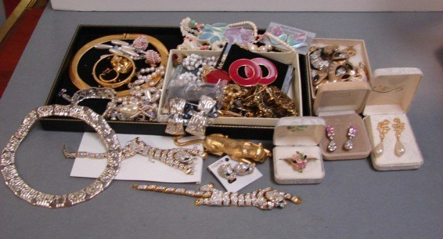 1: Vintage Costume Jewelry, some marked