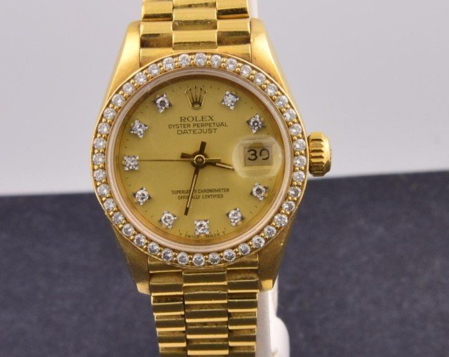 13: 18k yg  Rolex Ladies President Watch
