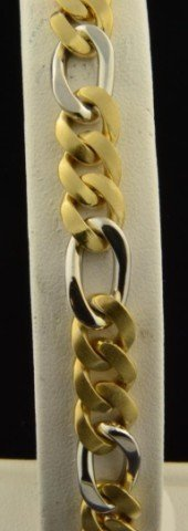 21A: 14k Two Tone Linked  Bracelet