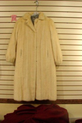 Full Length Tourmaline Mink Coat Oscar De La Renta