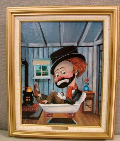 56: Red Skelton Signed Lithograph Freddie in the Tub