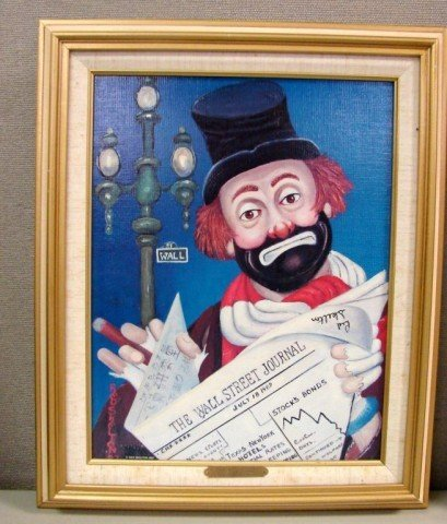57: Red Skelton Signed Lithograph The Financier