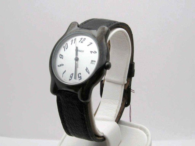 61A: Tissot watch with black ceramic case