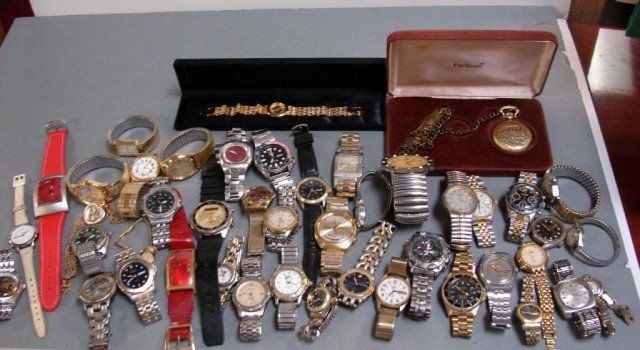 65: Box lot of 45 Watches - Mostly Men's