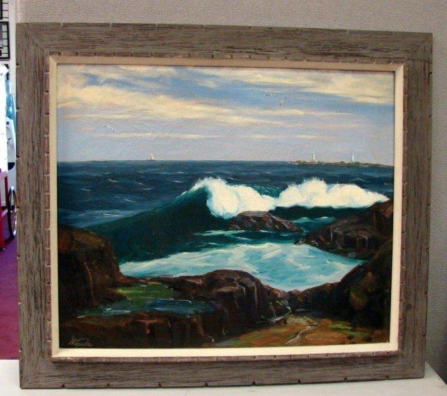 127: Original Oil Breaking Waves by Charles Stepule
