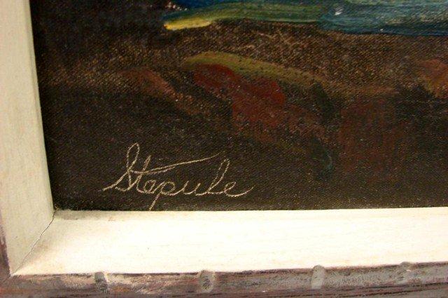 127: Original Oil Breaking Waves by Charles Stepule - 3