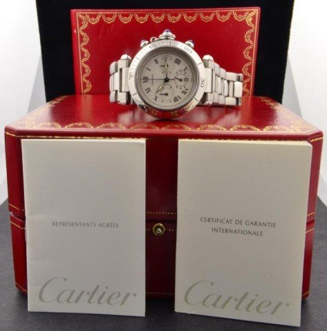 177: Man's Pasha De Cartier Chronograph Watch - 2