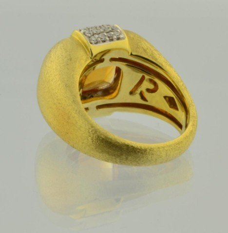 228: 18k yg Ladies New York Designer Citrine Ring - 3