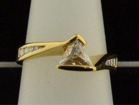 14k Yg Ladies Diamond Ring