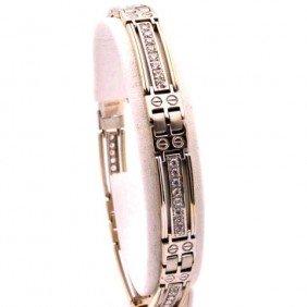 Man's14kwg Diamond Bracelet  1ctw