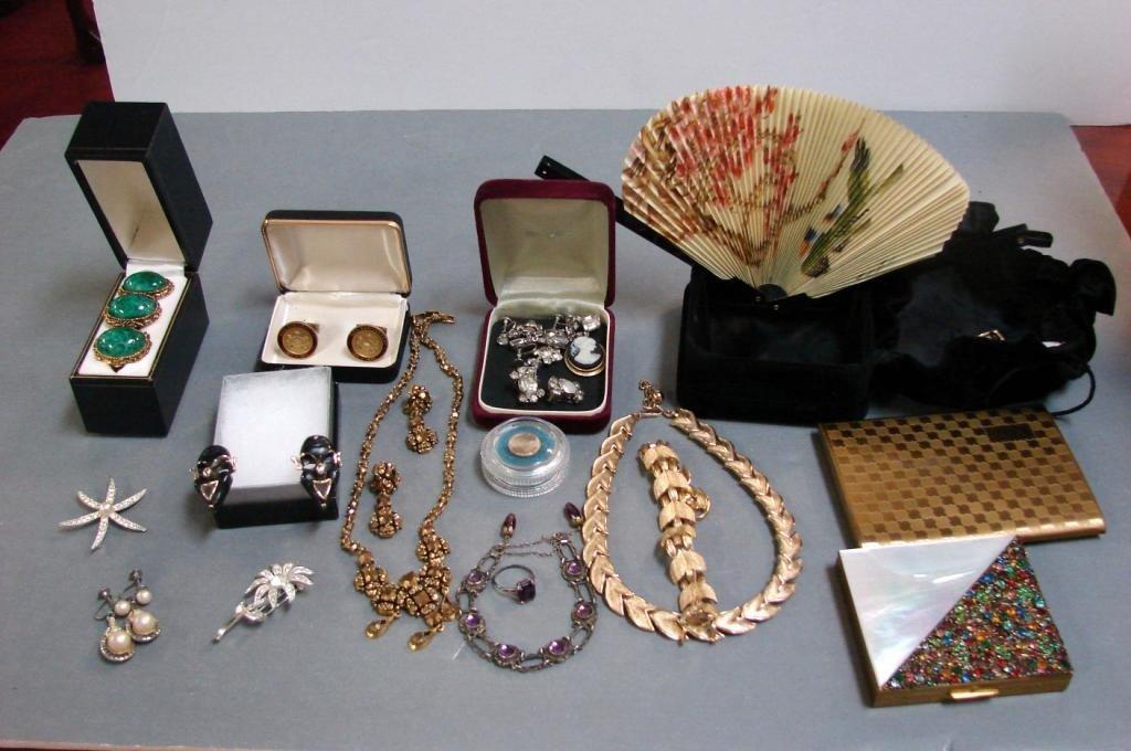 3: Vintage Costume Jewelry & Cigarette Cases