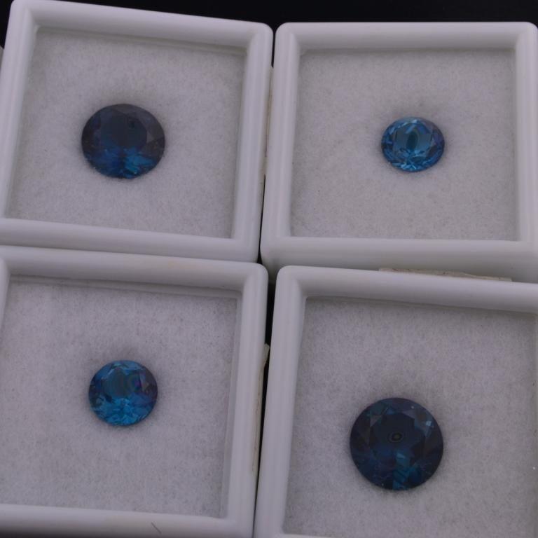 10: London Blue Topaz Loose Gems