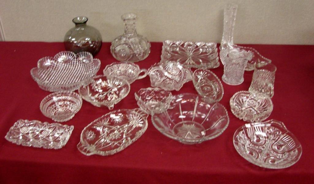 19: Huge Lot of American Pressed Glass & Cut Glass