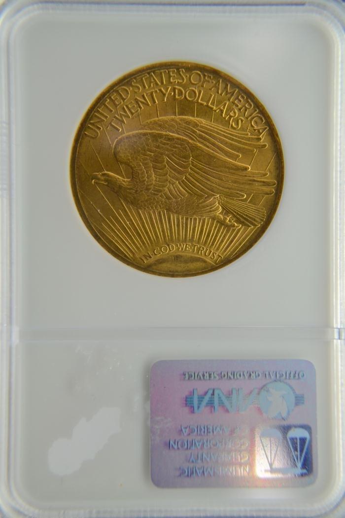 1280H: 1922 $20 Saint Gaudens NGC MS 63 - 3