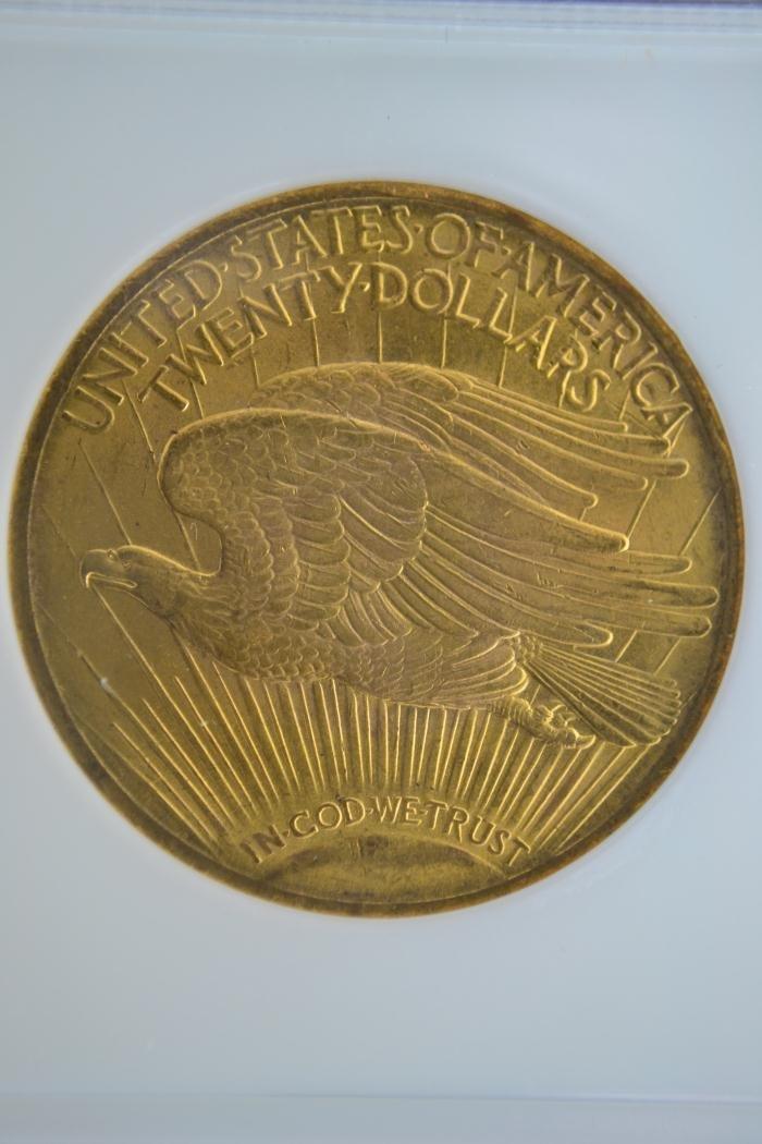 1280H: 1922 $20 Saint Gaudens NGC MS 63 - 4