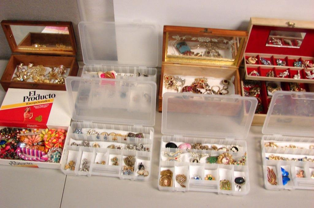3: Huge Box Vintage Costume Jewelry