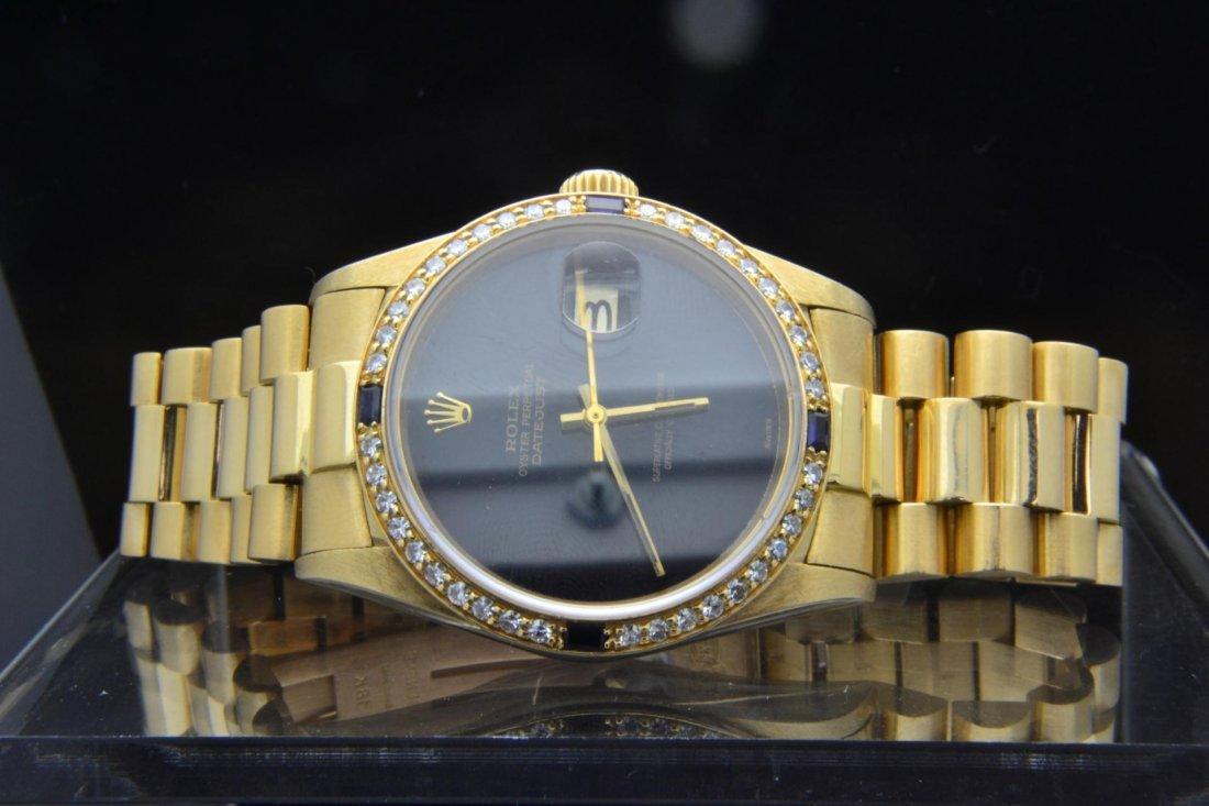 9: 18k yg Rolex Date Just  Mans Watch