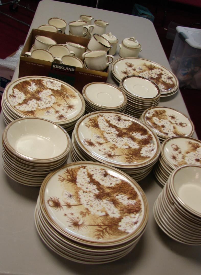 11: Mikasa Rolling Hills Dinnerware Svc. for 22