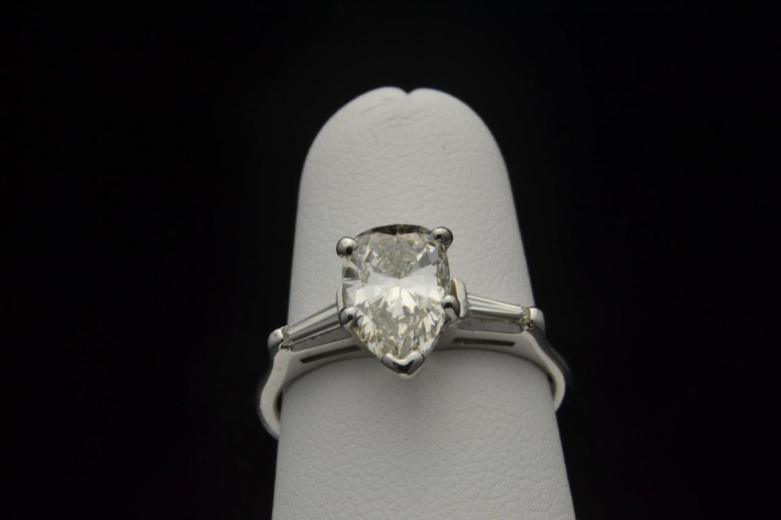 16: 14k wg Pear Shape  Diamond Ring