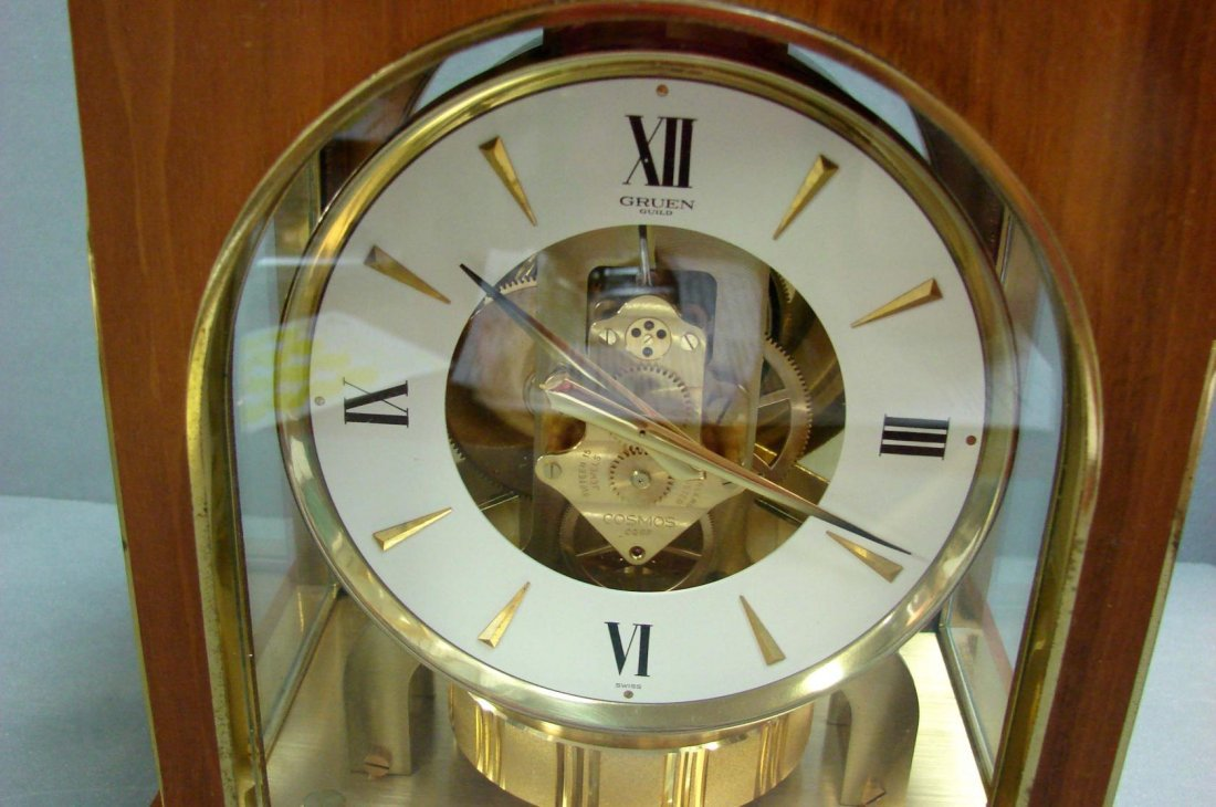 100: Gruen Atmos Clock Jaeger LaCoultre - Wood Case - 3