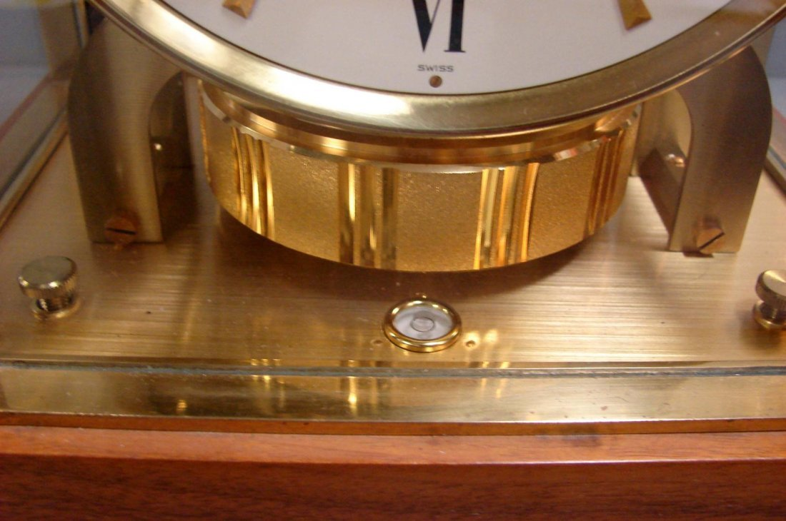100: Gruen Atmos Clock Jaeger LaCoultre - Wood Case - 4