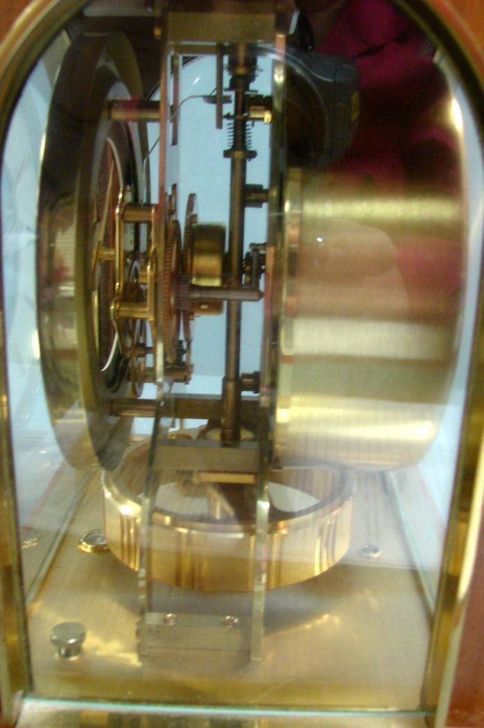 100: Gruen Atmos Clock Jaeger LaCoultre - Wood Case - 5