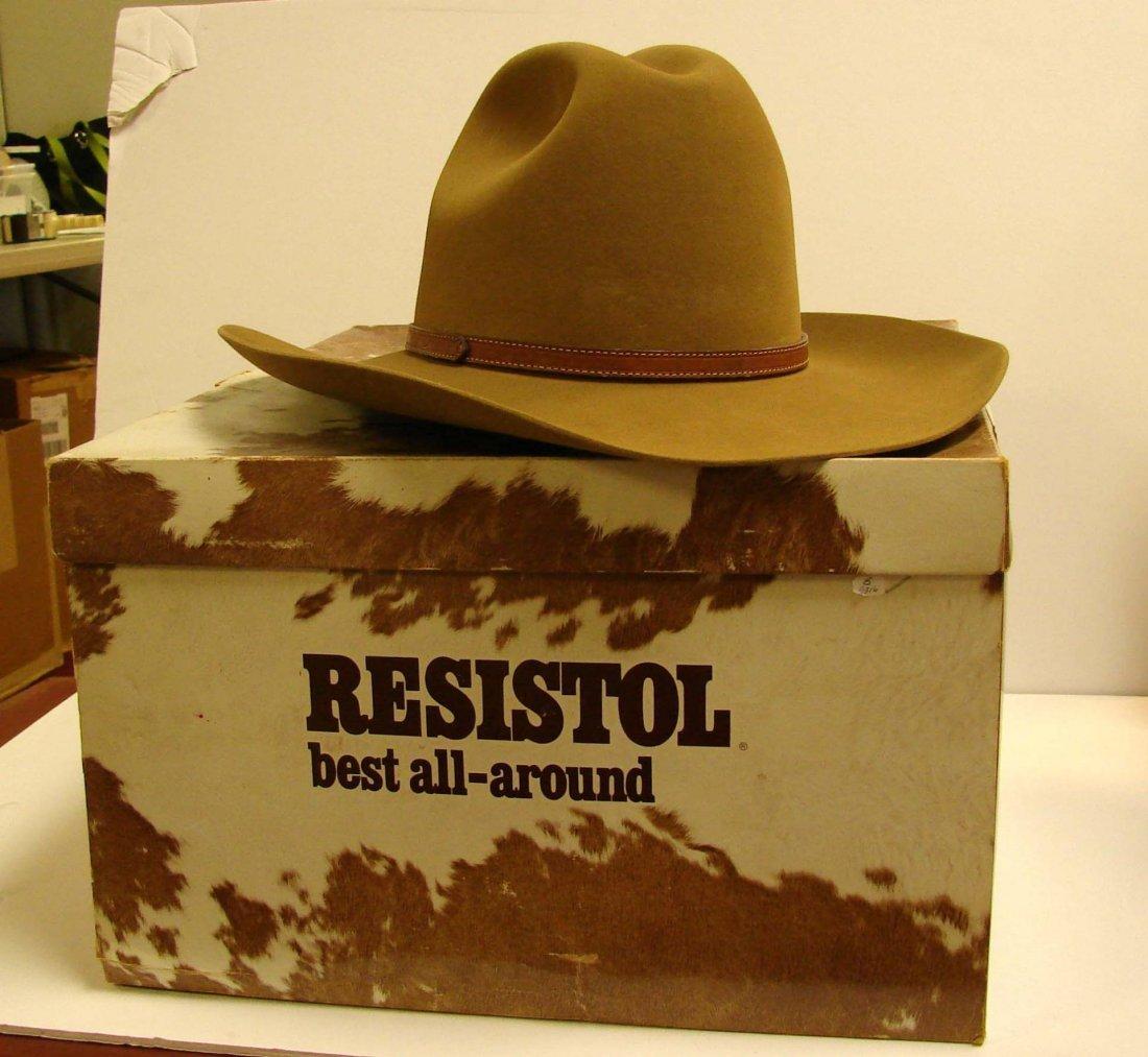 141: Resistol 4X Beaver Cowboy Hat - Size 7 1/2 - 2