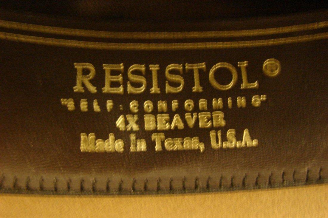 141: Resistol 4X Beaver Cowboy Hat - Size 7 1/2 - 5