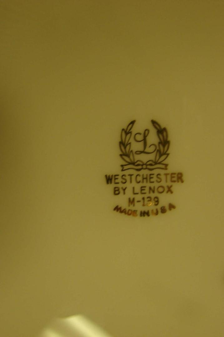 233: Lenox Westchester China Service for 8 +cream soup - 5