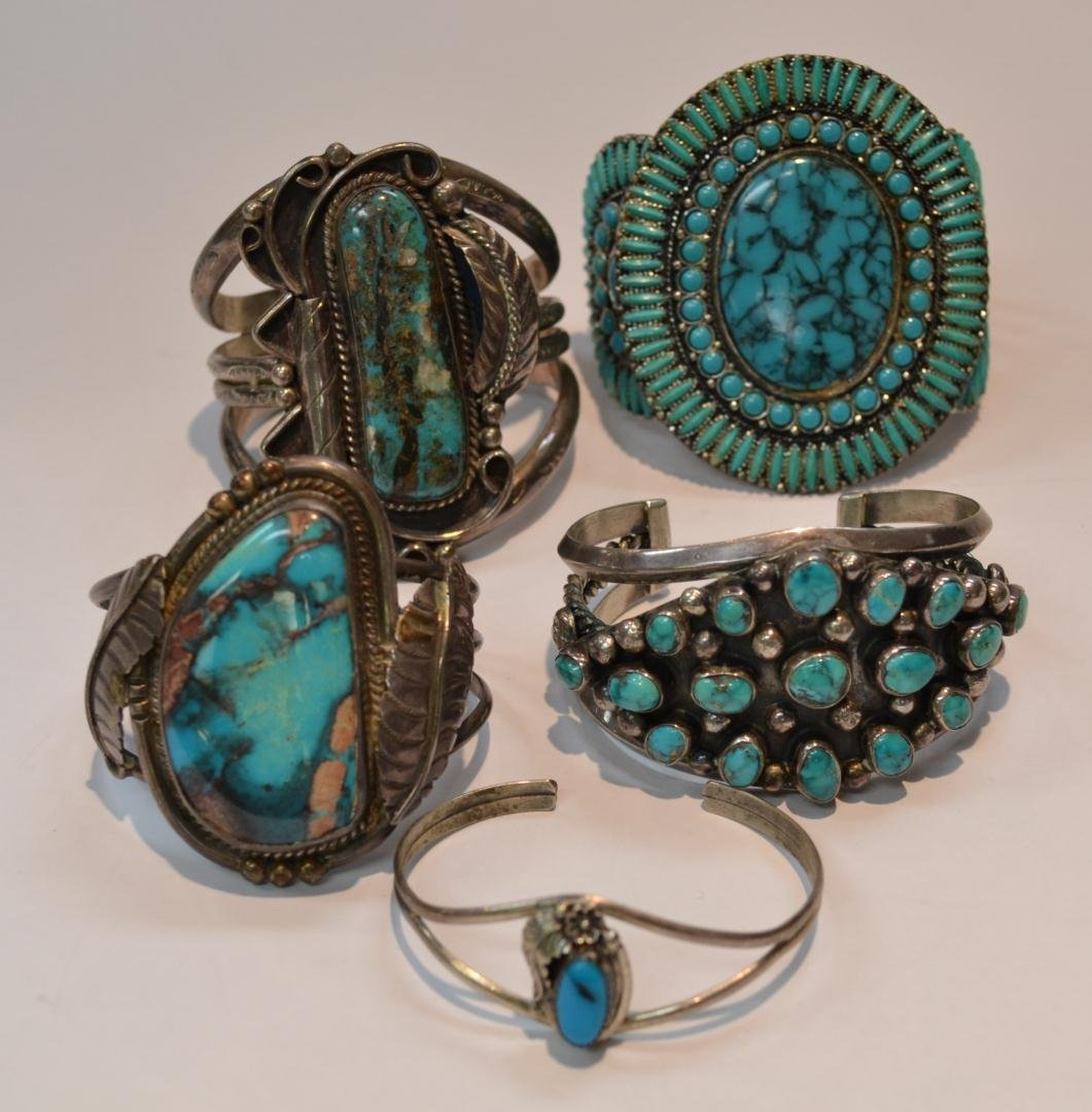 147: Lot of Turquoise Cuff Bracelets