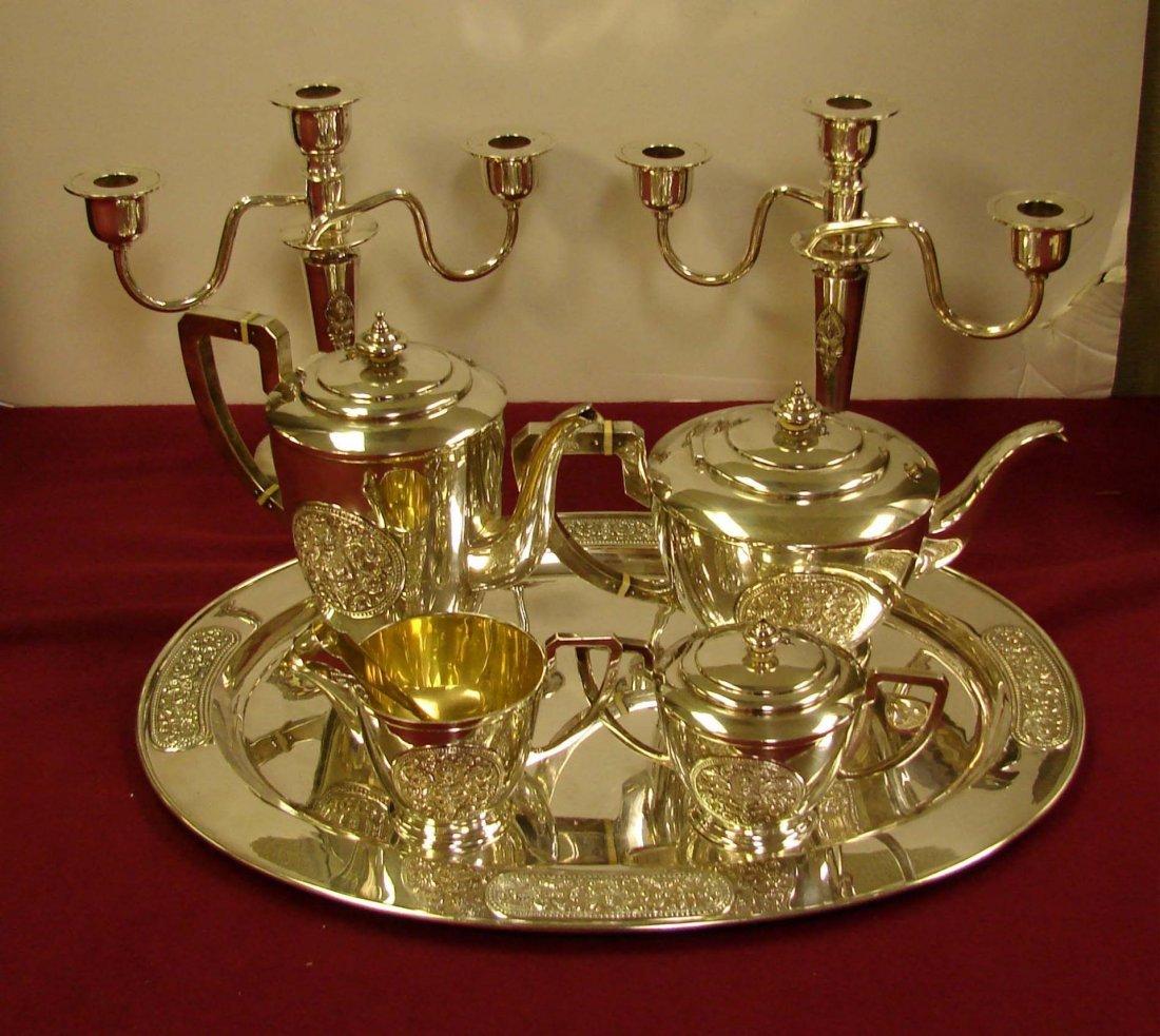 330: Sterling Silver Presentation Coffee/Tea Service