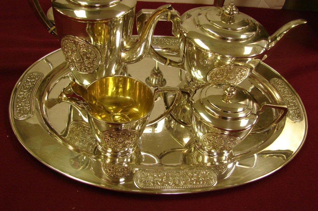 330: Sterling Silver Presentation Coffee/Tea Service - 2