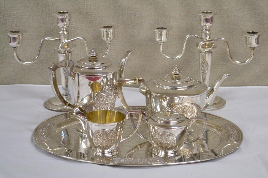330: Sterling Silver Presentation Coffee/Tea Service - 6