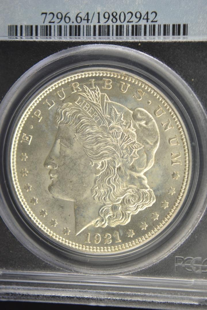 1888: 1921 $1 Morgan Silver Dollar PCGS MS 64 - 2