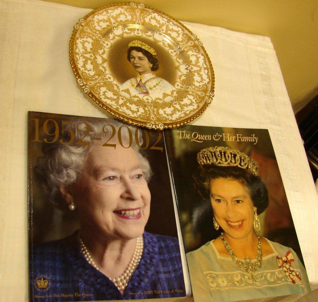 3: Queen Elizabeth Memorabilia: Plate & Programme