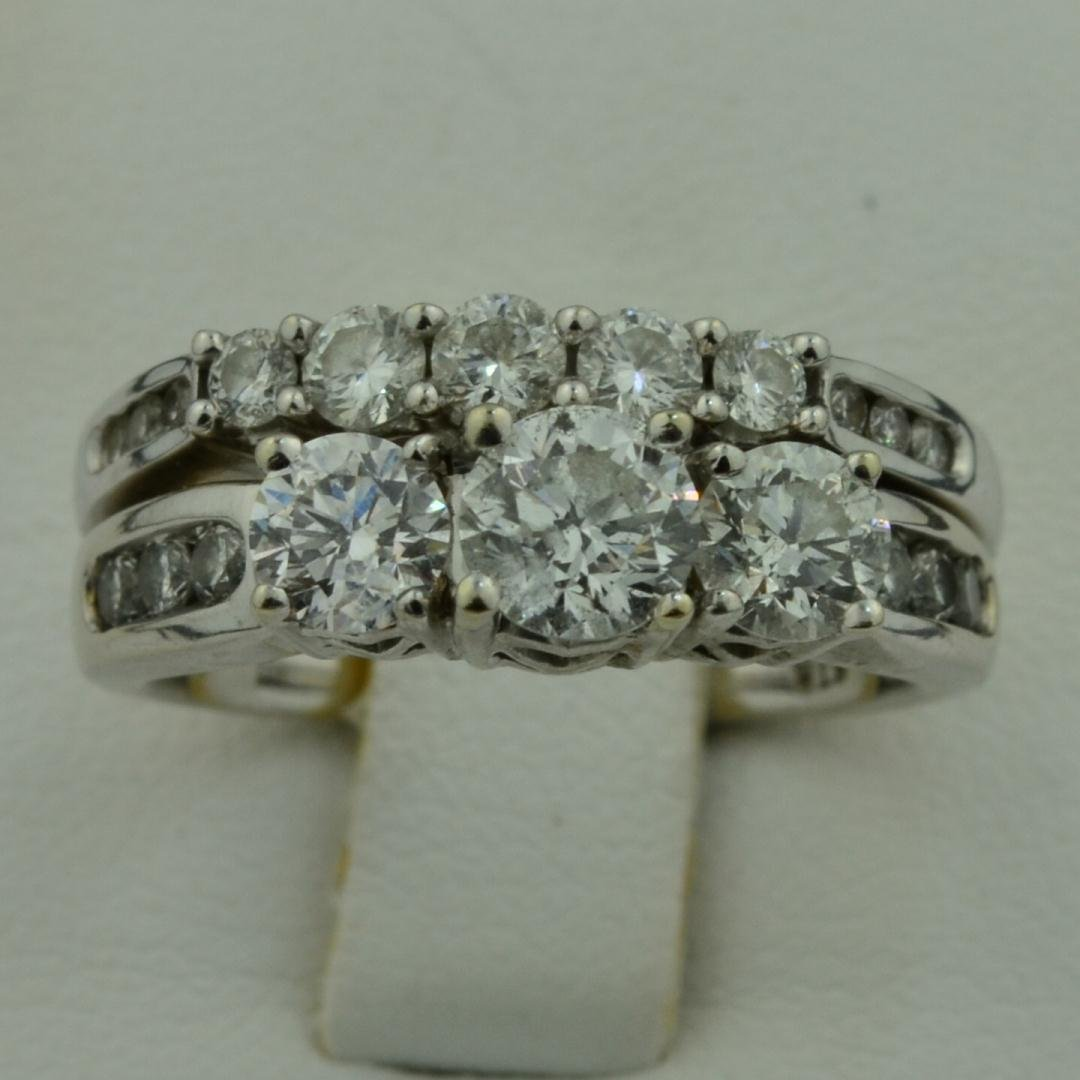 15: 14k wg Lady's 1.50 ctw Diamond Rings